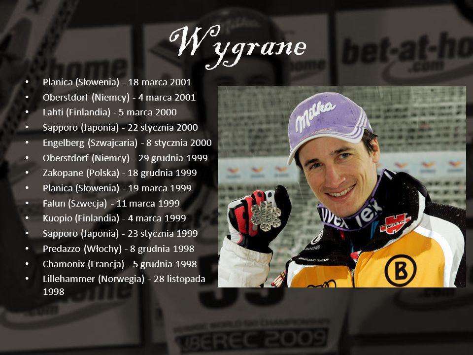 Wygrane Planica (Słowenia) - 18 marca 2001