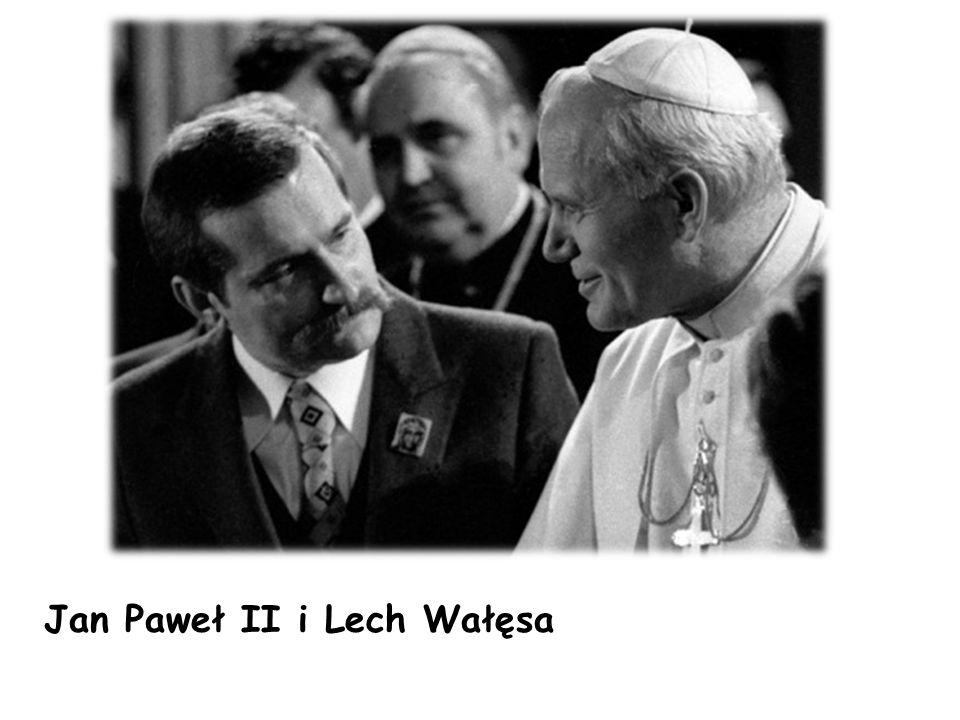 Jan Paweł II i Lech Wałęsa
