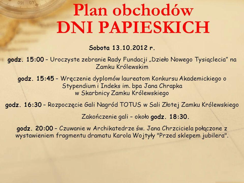 Plan obchodów DNI PAPIESKICH