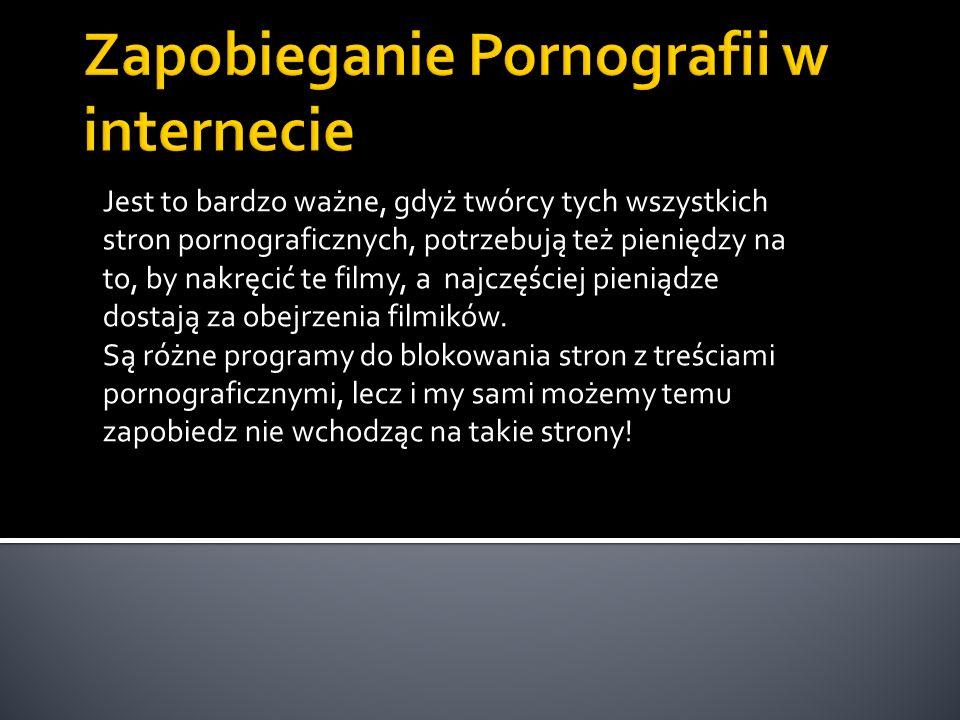 Zapobieganie Pornografii w internecie