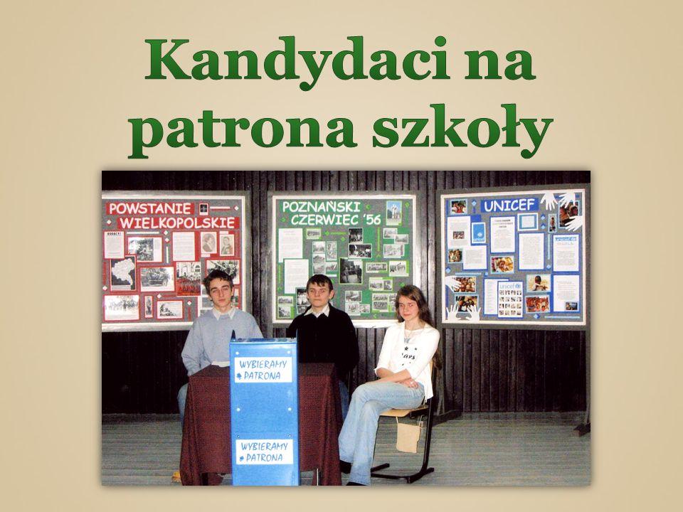 Kandydaci na patrona szkoły