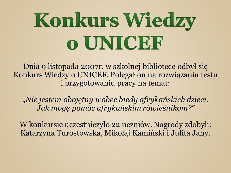 Konkurs Wiedzy o UNICEF