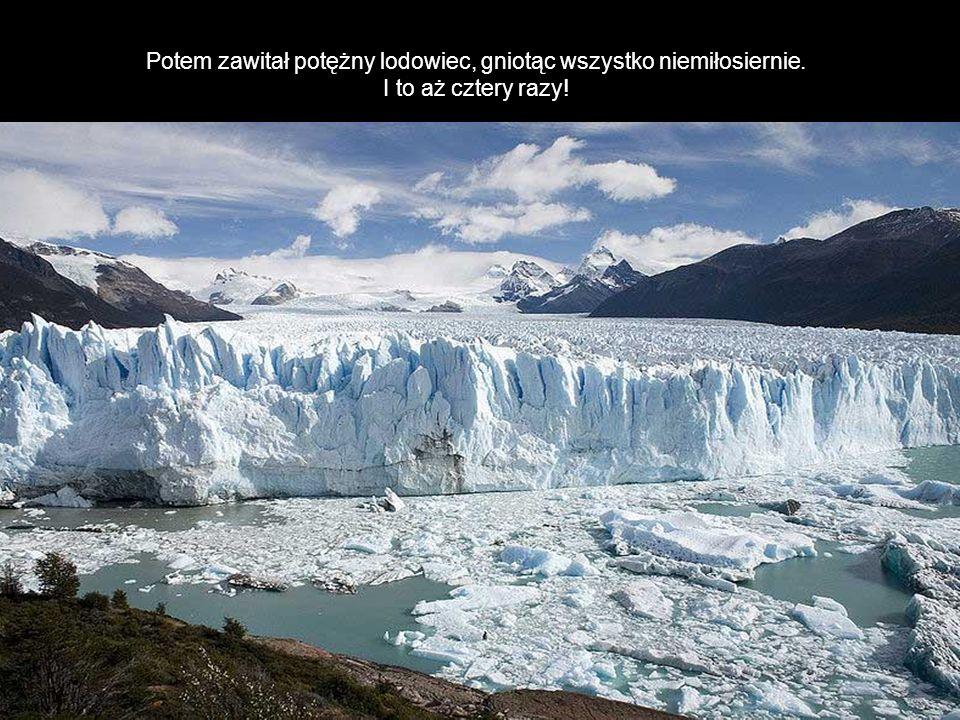 Potem zawitał potężny lodowiec, gniotąc wszystko niemiłosiernie