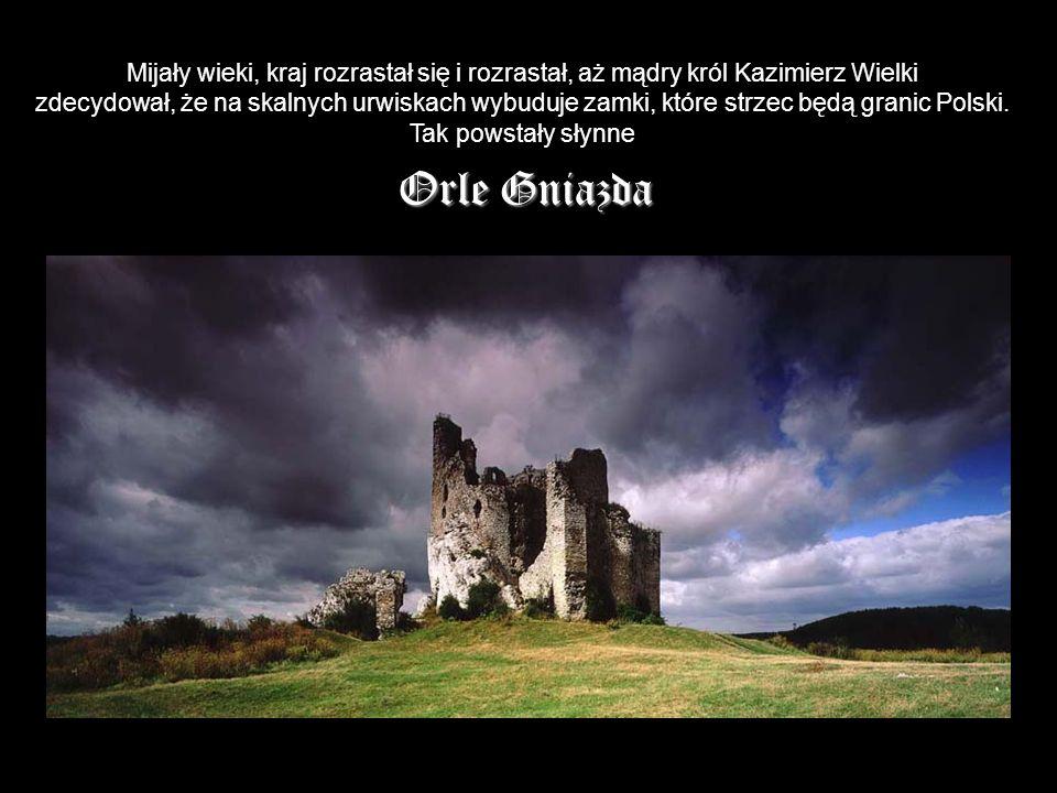 Mijały wieki, kraj rozrastał się i rozrastał, aż mądry król Kazimierz Wielki