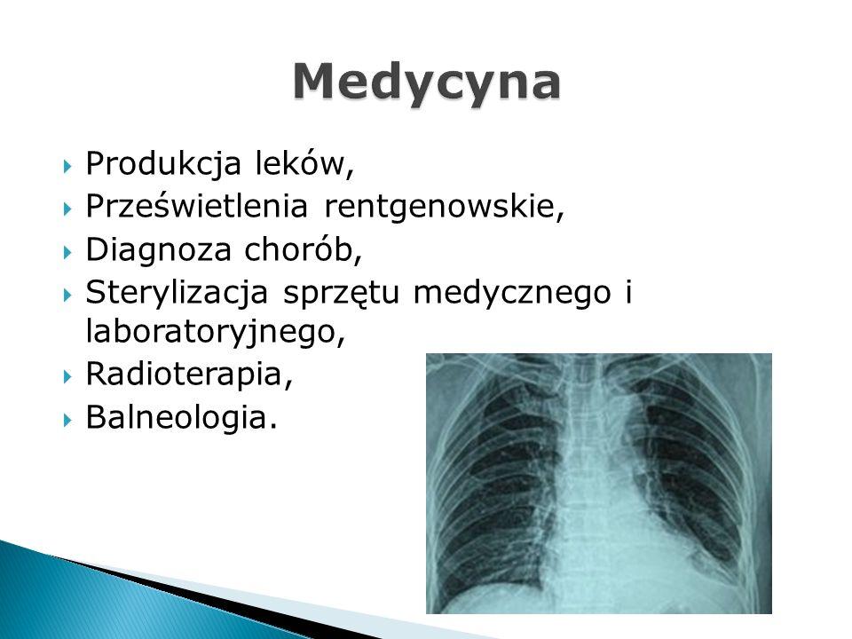 Medycyna Produkcja leków, Prześwietlenia rentgenowskie,