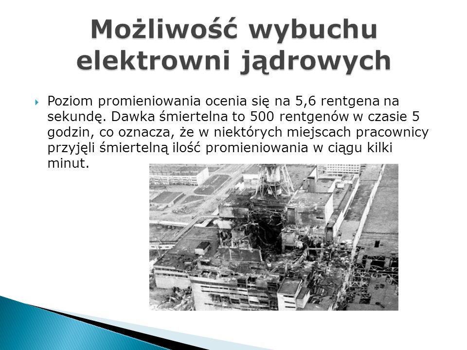 Możliwość wybuchu elektrowni jądrowych