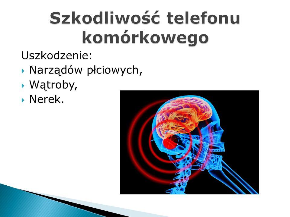 Szkodliwość telefonu komórkowego