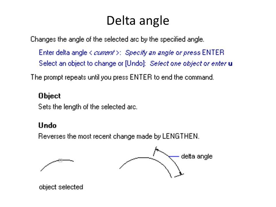 Delta angle