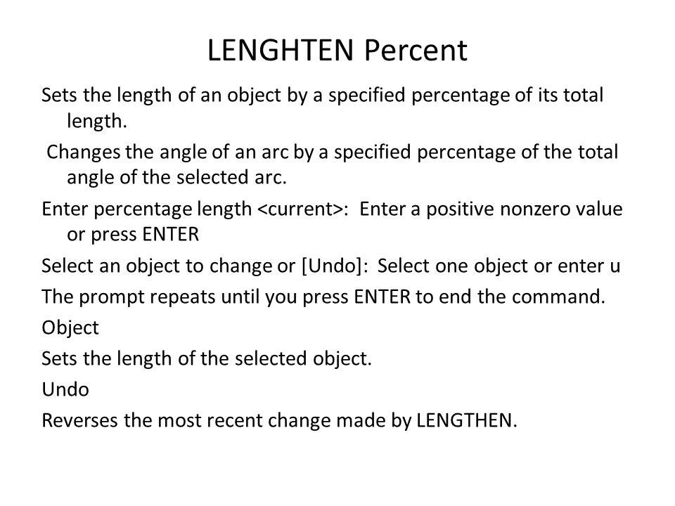 LENGHTEN Percent