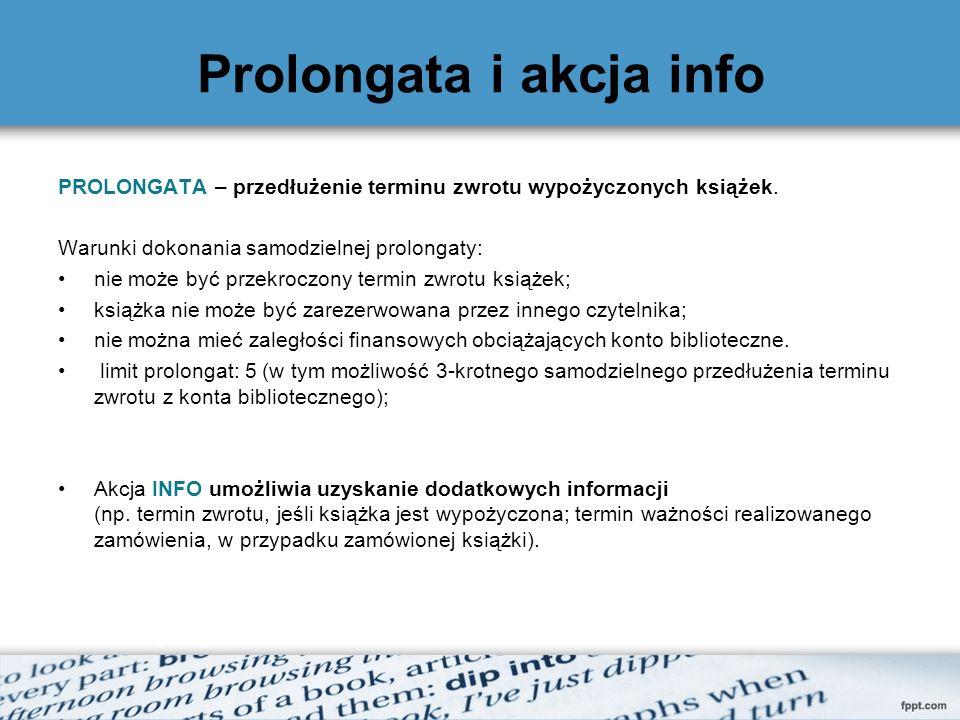 Prolongata i akcja info