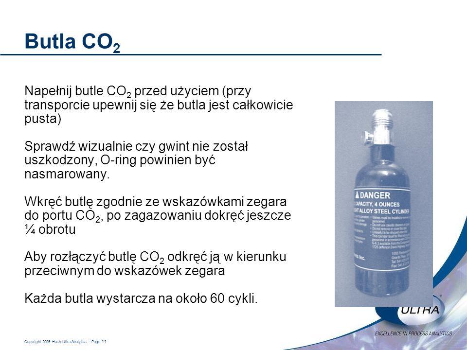 Butla CO2 Napełnij butle CO2 przed użyciem (przy transporcie upewnij się że butla jest całkowicie pusta)