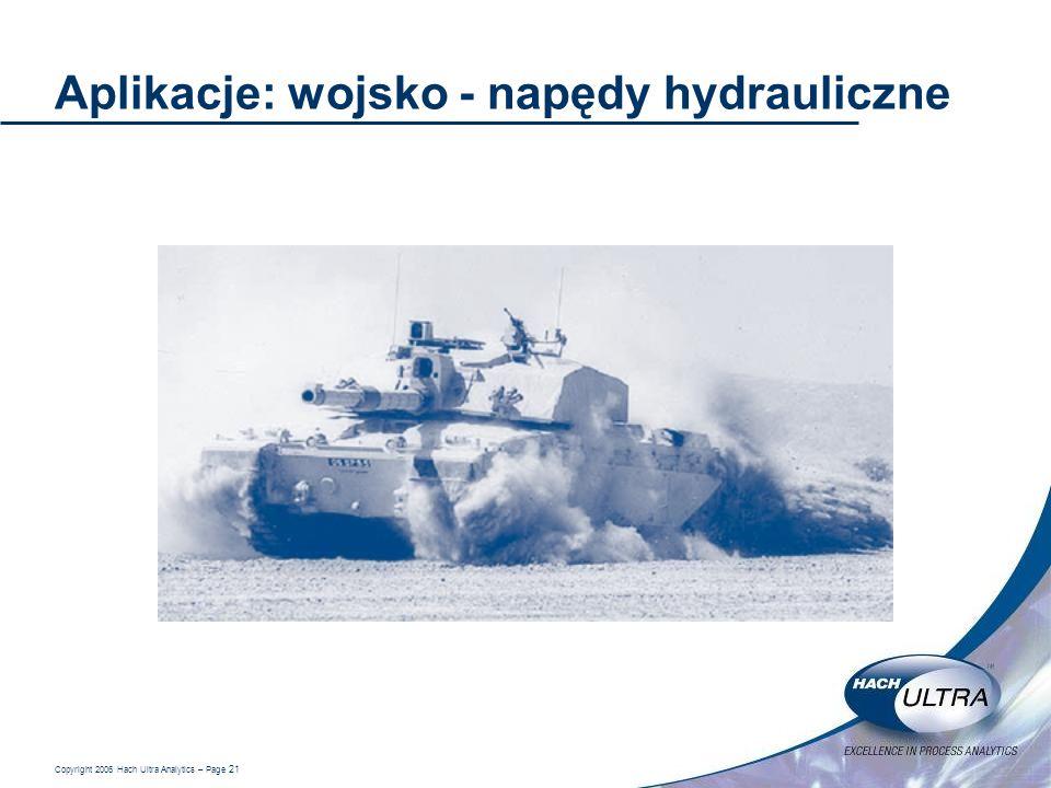 Aplikacje: wojsko - napędy hydrauliczne