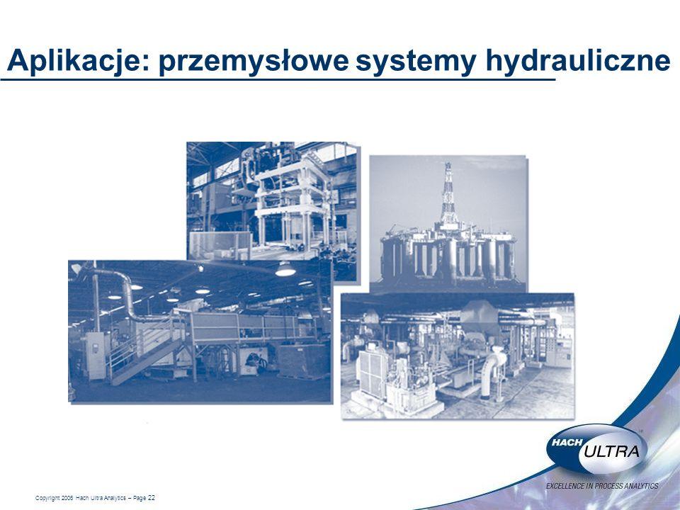 Aplikacje: przemysłowe systemy hydrauliczne