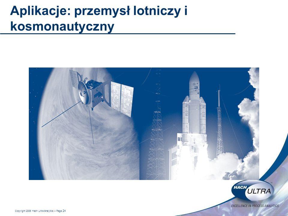 Aplikacje: przemysł lotniczy i kosmonautyczny