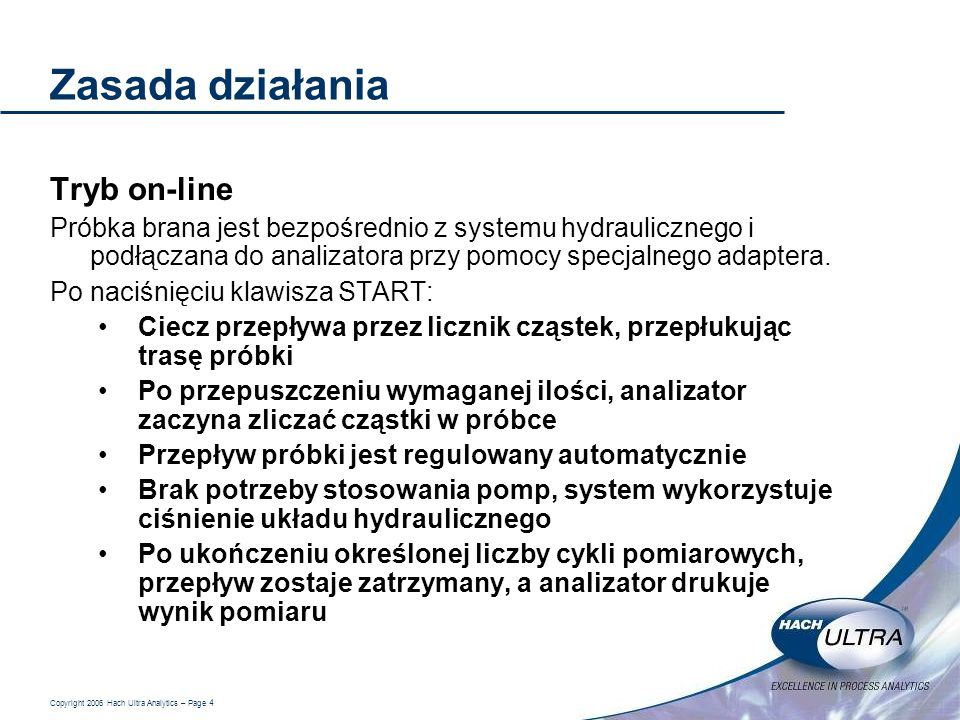 Zasada działania Tryb on-line