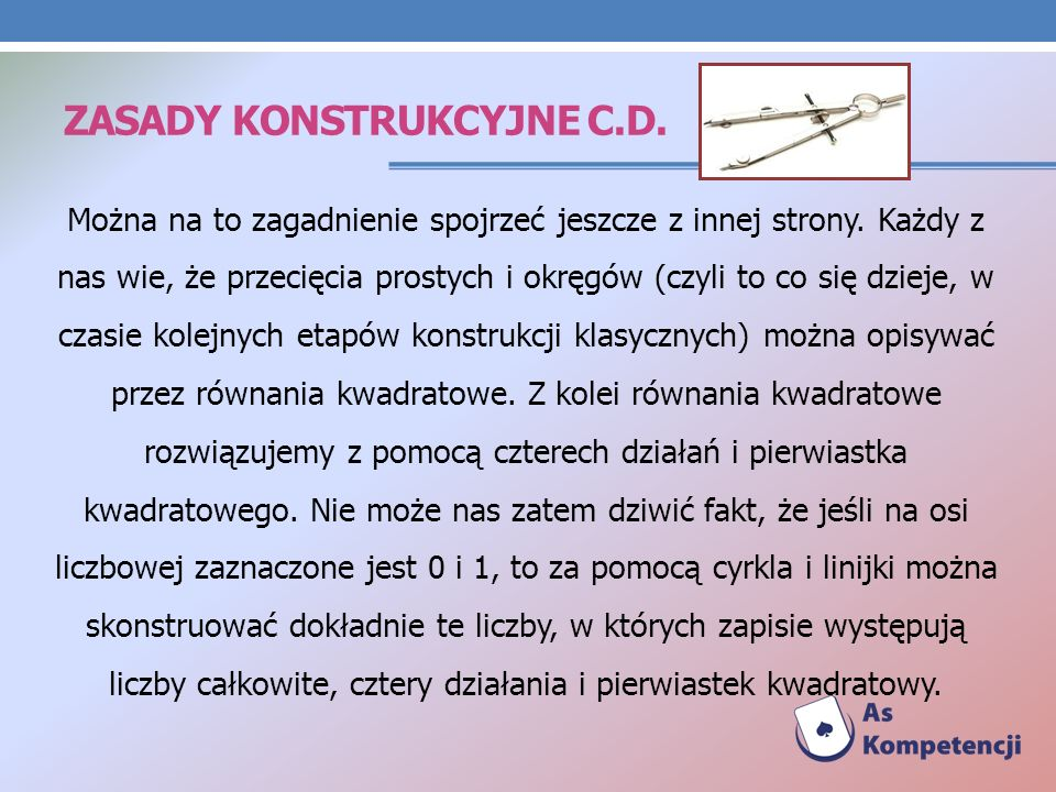 Zasady konstrukcyjne c.d.