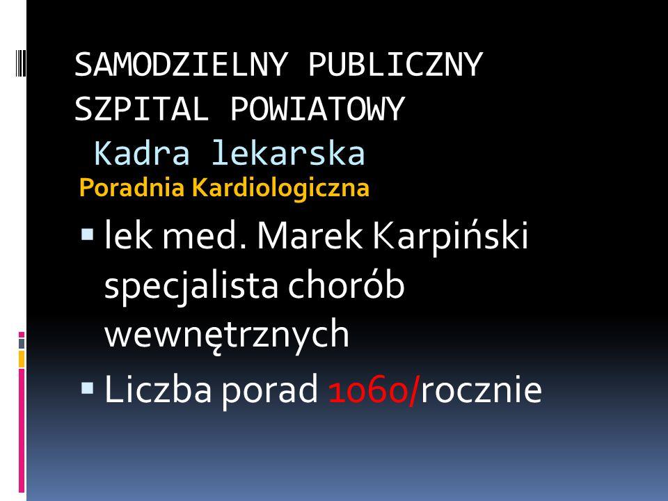 SAMODZIELNY PUBLICZNY SZPITAL POWIATOWY Kadra lekarska