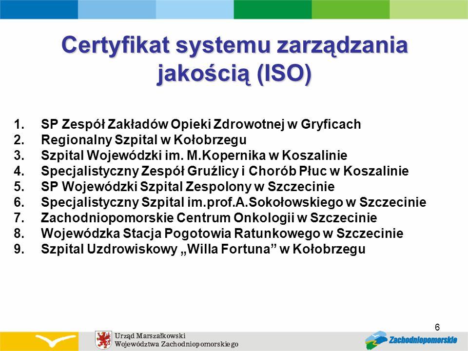 Certyfikat systemu zarządzania jakością (ISO)