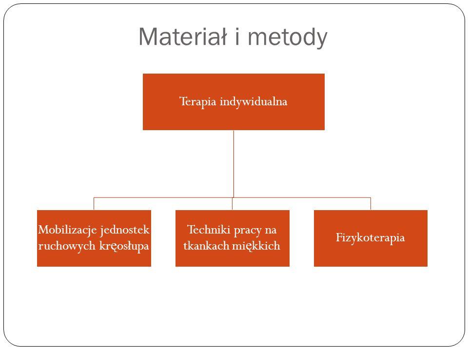 Materiał i metody Terapia indywidualna