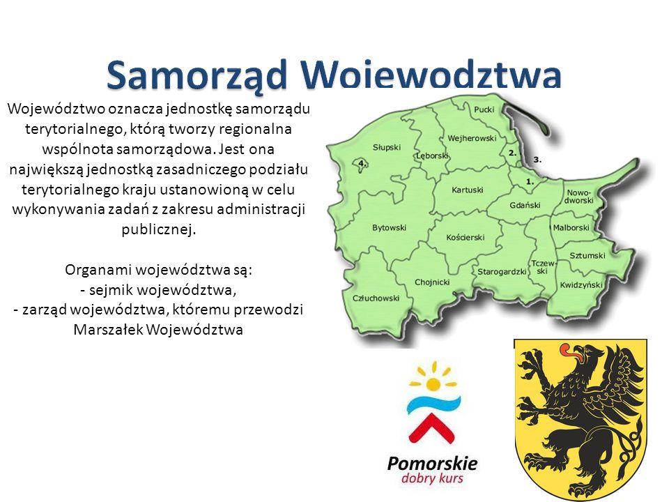 - zarząd województwa, któremu przewodzi Marszałek Województwa