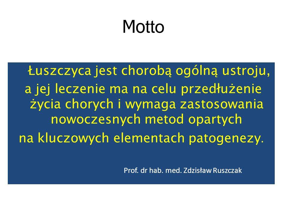 Motto Łuszczyca jest chorobą ogólną ustroju,