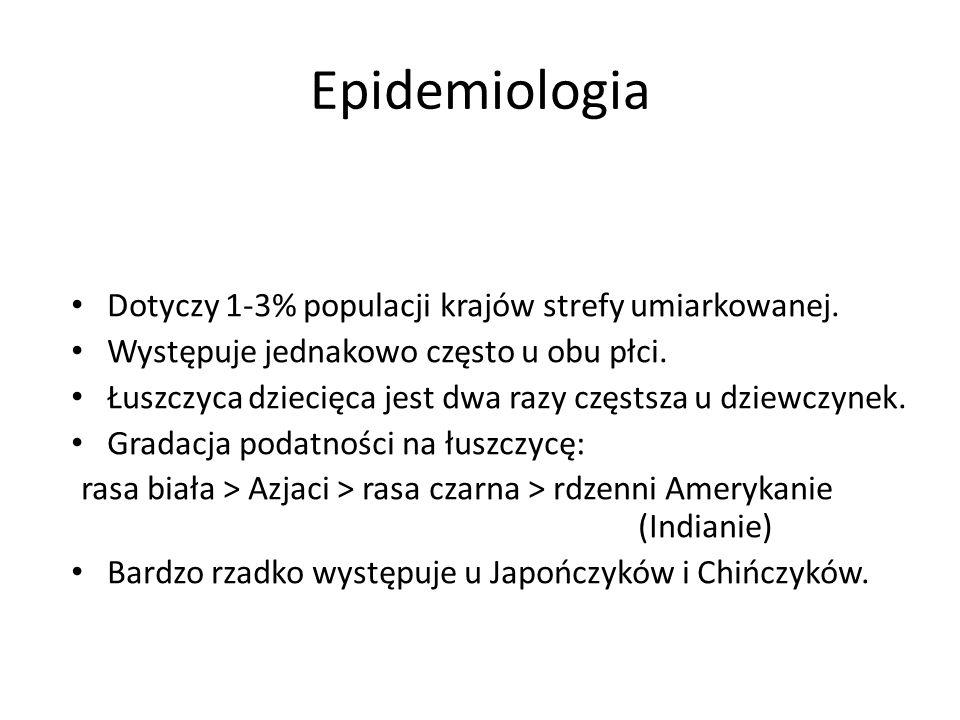Epidemiologia Dotyczy 1-3% populacji krajów strefy umiarkowanej.