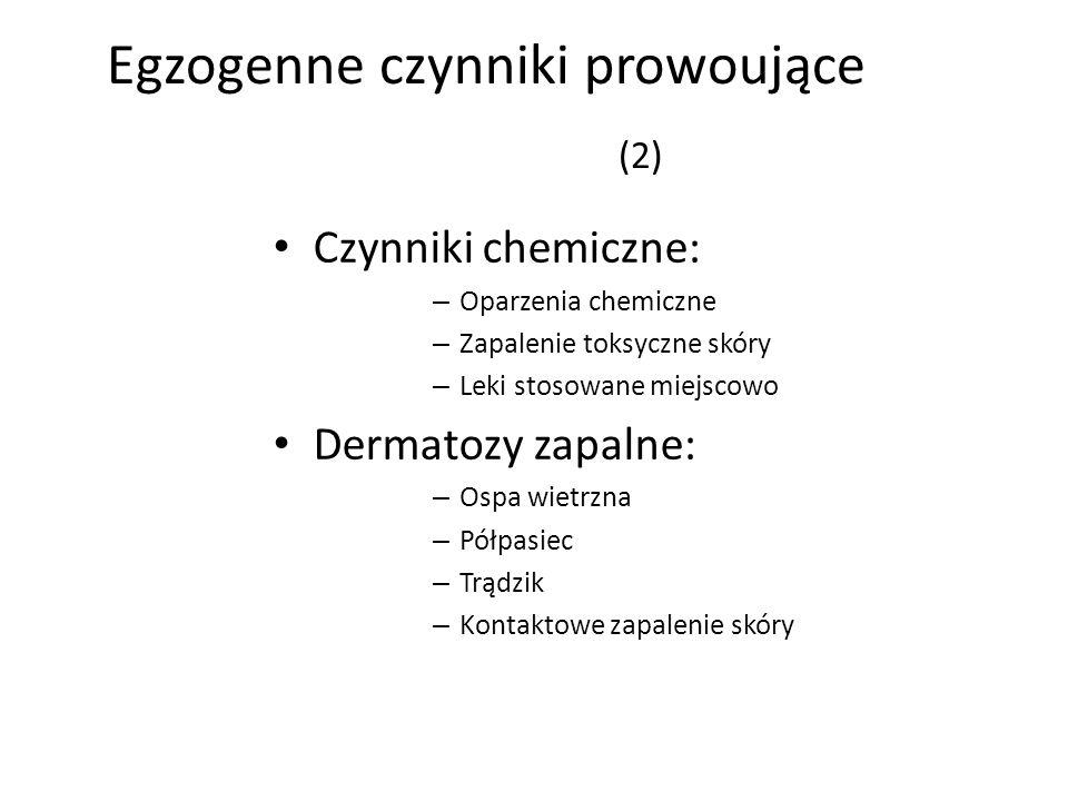 Egzogenne czynniki prowoujące (2)