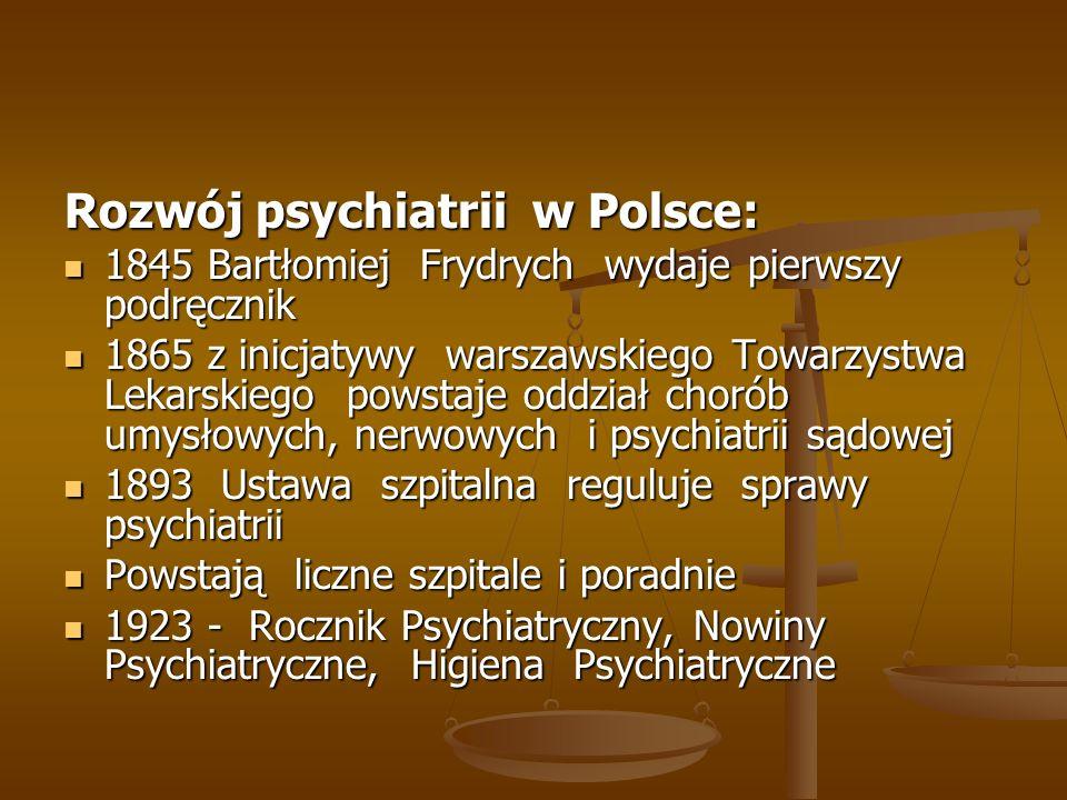 Rozwój psychiatrii w Polsce: