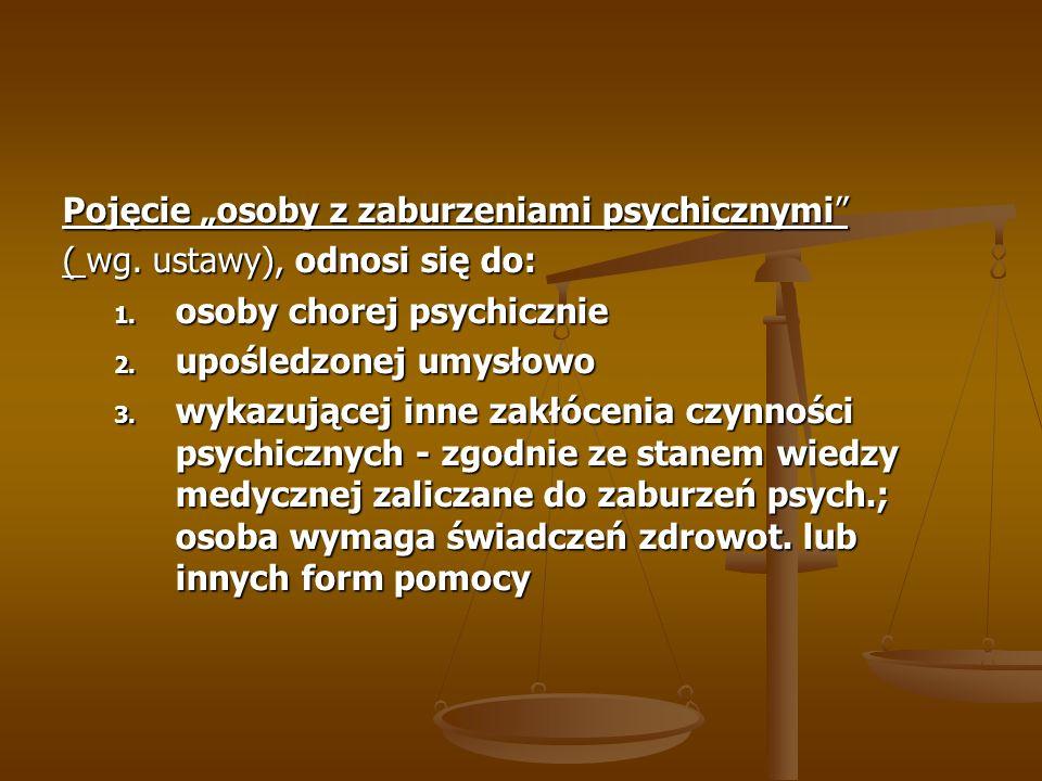 """Pojęcie """"osoby z zaburzeniami psychicznymi"""