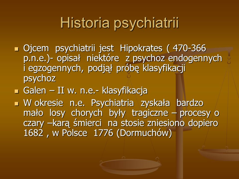 Historia psychiatrii