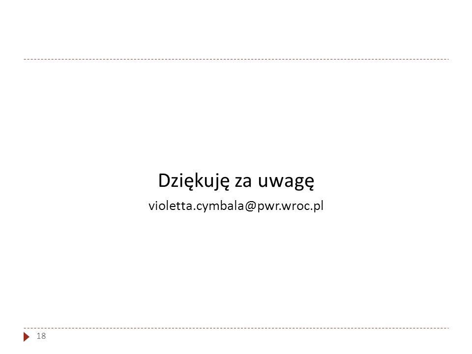Dziękuję za uwagę violetta.cymbala@pwr.wroc.pl