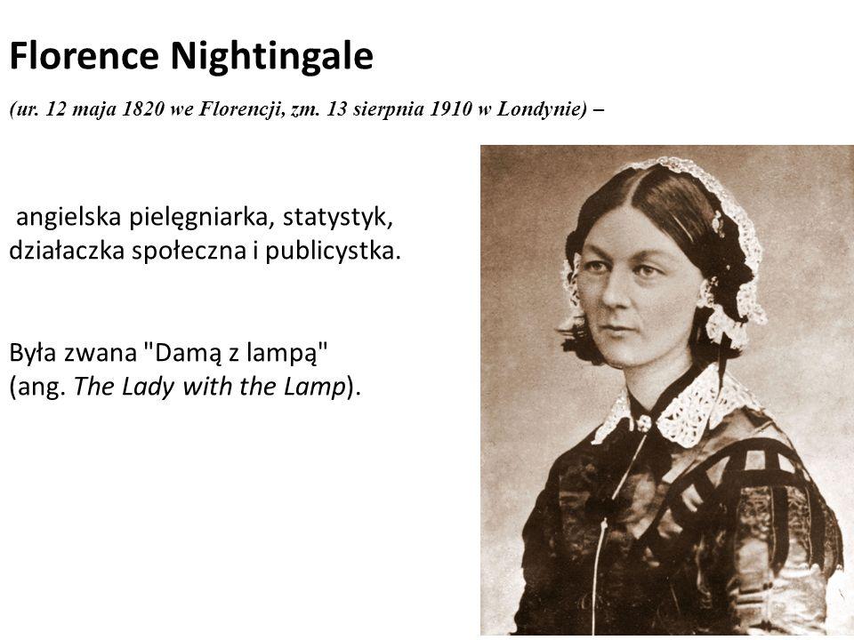 Florence Nightingale angielska pielęgniarka, statystyk,