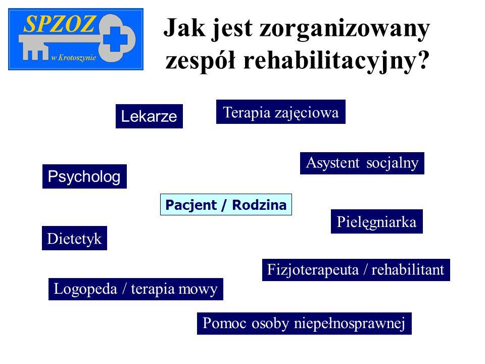 Jak jest zorganizowany zespół rehabilitacyjny