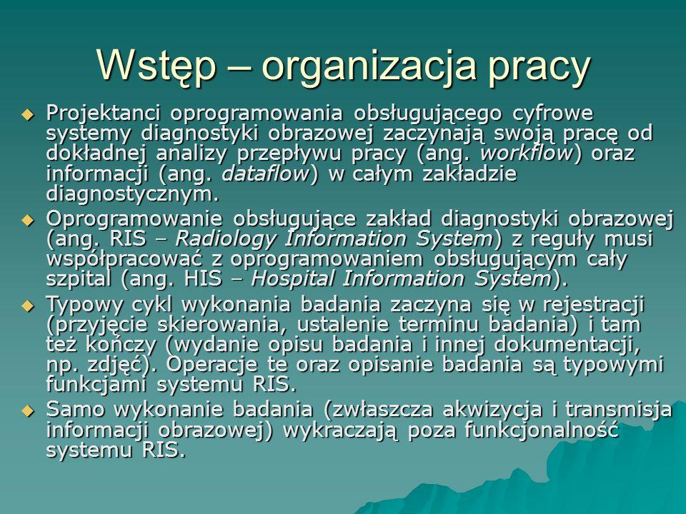 Wstęp – organizacja pracy