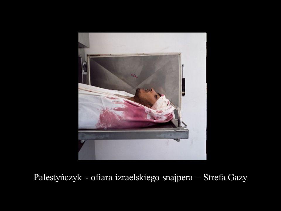 Palestyńczyk - ofiara izraelskiego snajpera – Strefa Gazy