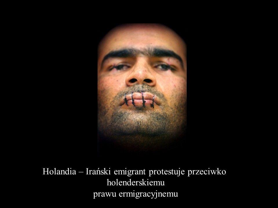 Holandia – Irański emigrant protestuje przeciwko