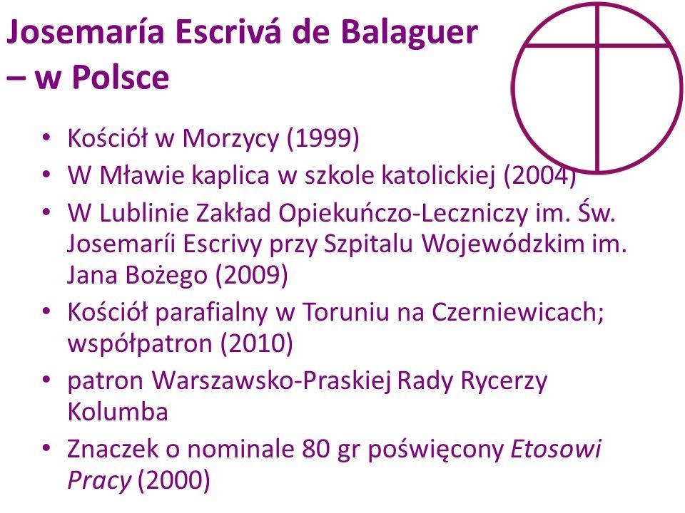 Josemaría Escrivá de Balaguer – w Polsce
