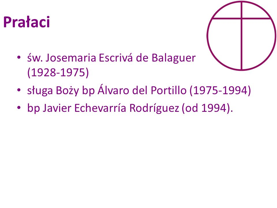 Prałaci św. Josemaria Escrivá de Balaguer (1928-1975)