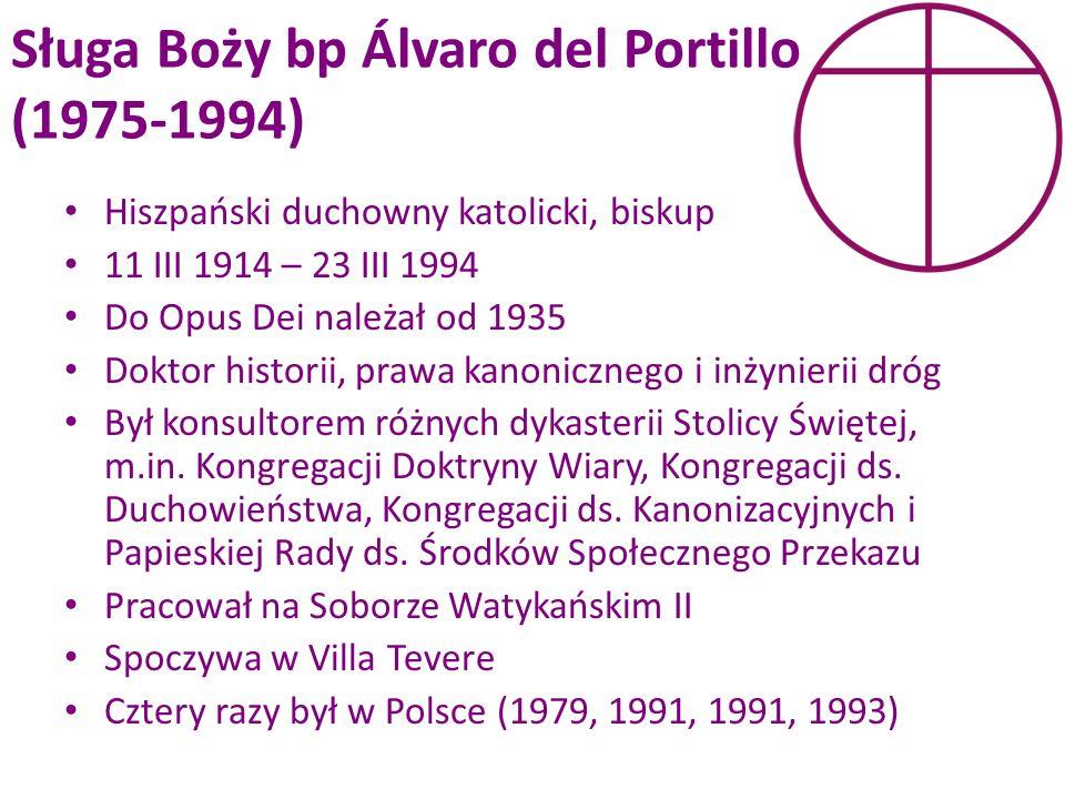 Sługa Boży bp Álvaro del Portillo (1975-1994)