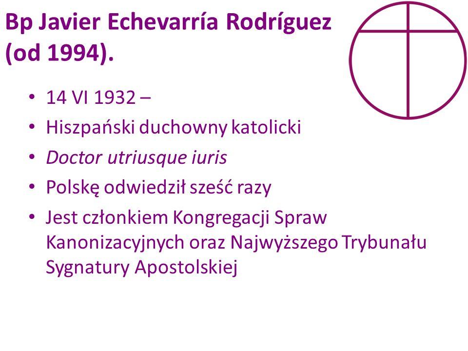 Bp Javier Echevarría Rodríguez (od 1994).