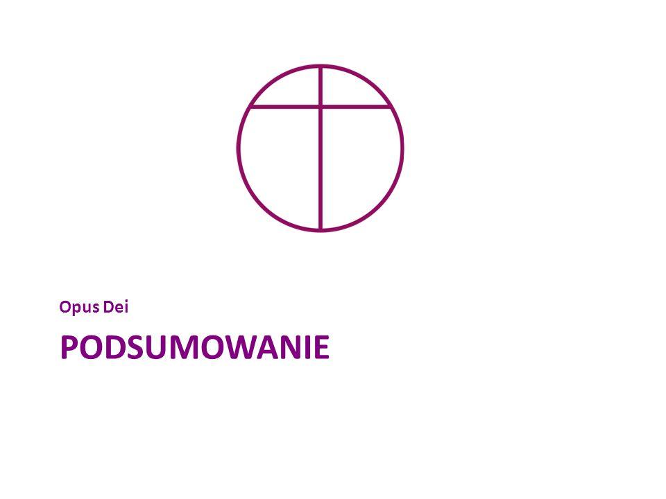 Opus Dei Podsumowanie