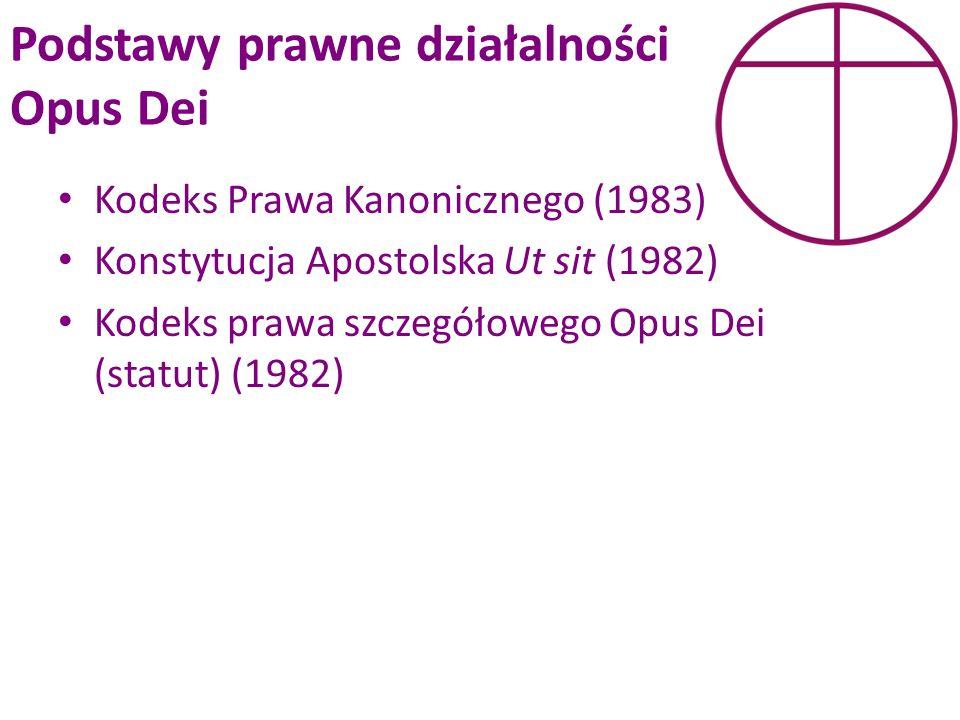 Podstawy prawne działalności Opus Dei