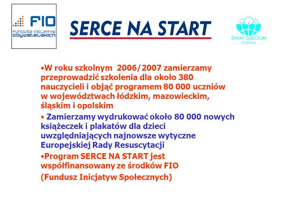 W roku szkolnym 2006/2007 zamierzamy przeprowadzić szkolenia dla około 380 nauczycieli i objąć programem 80 000 uczniów w województwach łódzkim, mazowieckim, śląskim i opolskim