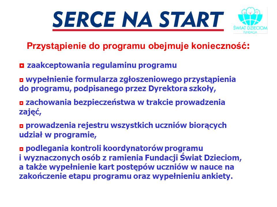 Przystąpienie do programu obejmuje konieczność: