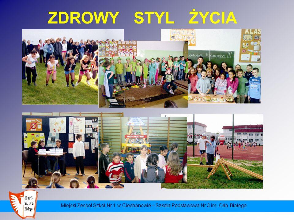 ZDROWY STYL ŻYCIA Miejski Zespół Szkół Nr 1 w Ciechanowie – Szkoła Podstawowa Nr 3 im.