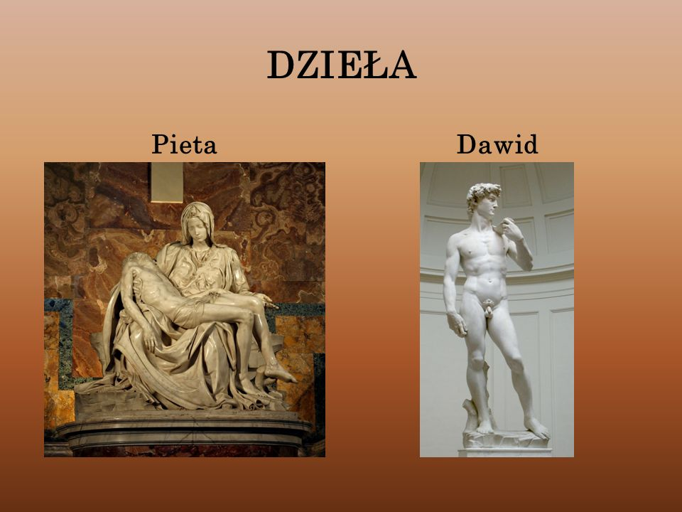 DZIEŁA Pieta Dawid