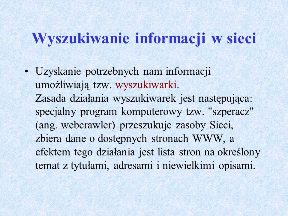 Wyszukiwanie informacji w sieci
