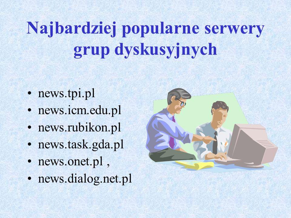 Najbardziej popularne serwery grup dyskusyjnych