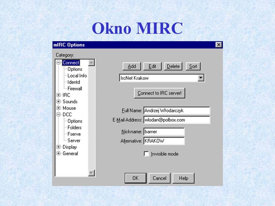 Okno MIRC