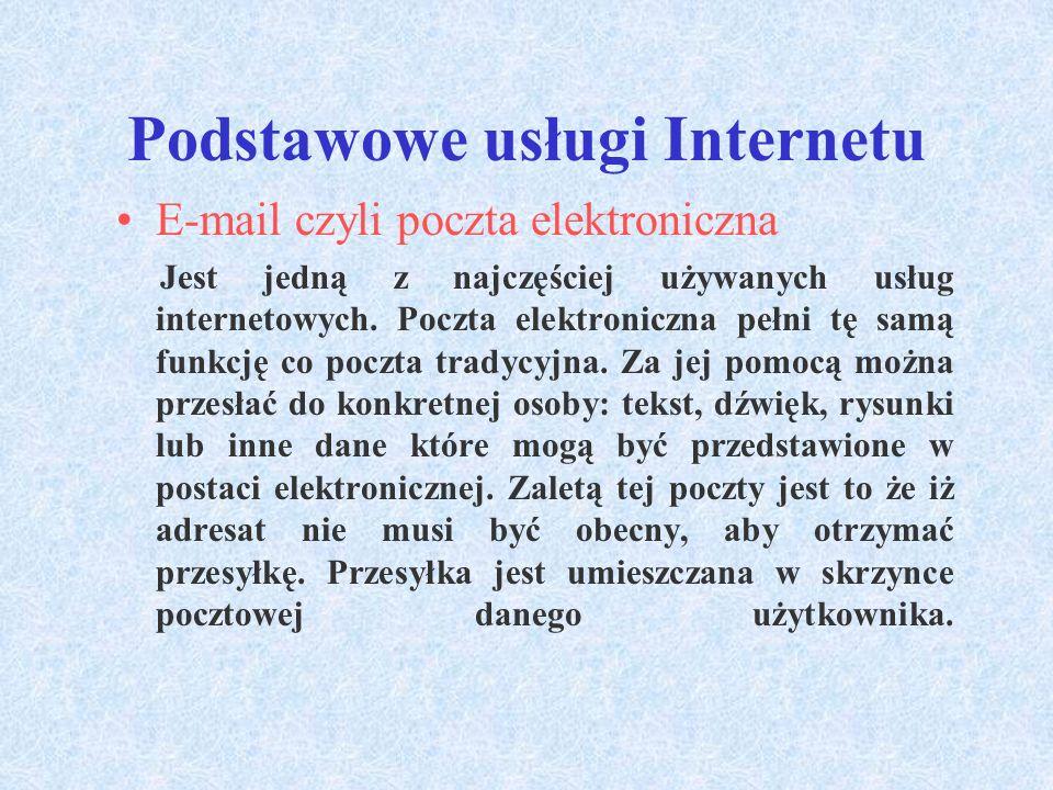 Podstawowe usługi Internetu